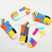 1set =5pairs=10pcs High-quality national wind spell-color socks cotton socks winter socks