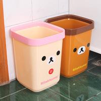 Free shipping wholesale fashion cartoon trash can easily bear creative home office trash can peel bucket QJ013