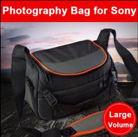 Large Capacity Photography Bag DSLR Camera Bag for Sony Brand Logo on bag 36*15*22cm can load tripod