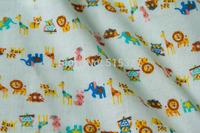 50cm*108cm Japanese Kokka DIY Patchwork Quilting Cloth  Double Gauze Cotton Fabric Animal  Pattern