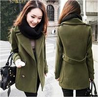 Greedis Good 2015 women coat Wool & Blends autumn winter trench coat outwear fashion new free shipping Y120