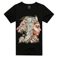 2015 Summer Men Women Sport Tee Personality Soft 3D Religion Lion Head Skulls Fashion Men T Shirt Cotton Hip Hop Eagle T-Shirt