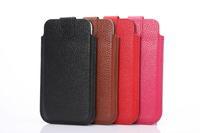 "K-C Genuine Leather Housing Case Flip phone Pocket Skin For Apple iphone6 4.7"" iphone 6 plus 5.5"""