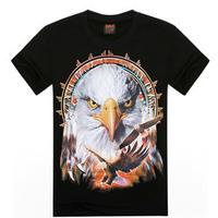 Hot 2015 Summer Autumn Men Women Sport Tee Gift Boy Girl Personality 3D T Shirt Hip Hop Skulls Indians Eagle War Dragon T-Shirt