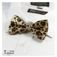 Fashion Korean Bowtie Yellow Print Leopard Bow Tie Formal Bowties Polyester Bowties Self Tie Bow Ties Party Wedding Bowtie