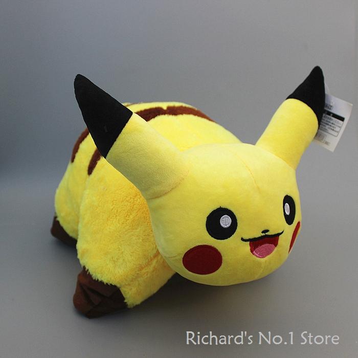 EMS 10pcs/lot New Design Pokemon Pikachu Plush Pillow Toys Doll Cute Pillow 44*35cm(China (Mainland))