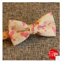 New Arrival Korean Style Print Jacquard Bow Tie South Korea Gold Silk Bowties Self Tie Bow Ties Party Wedding Bowtie For Men