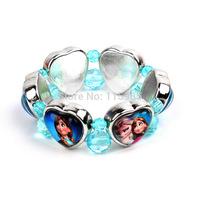 1pc Frozen Dora Cinderella Fashion Jewelry Bracelet cute baby girl chain bracelets hand kid Beads children gift girl accessory