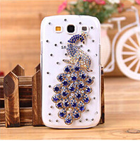 New 2014 PC Bling Diamond Rhinestone Crystal Case Cover for Samsung Galaxy S3  S4 S5  Hard Back Case Protective Shell