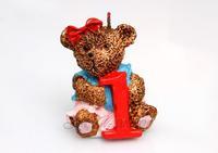 digital cartoon baby children birthday candle cake decoration creative holiday party 0,1,2,3..Winnie