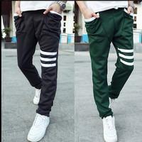 2015 NEW 10 Color /Size:M-XXXL/ Fashion Casual Slim Fit Sport Pants Men Leisure Harem Sweatpants Jogger Parkour Trousers