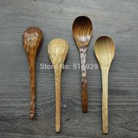 Supply tortoiseshell spoon big leaf Zhang creative bent wooden tableware spoon