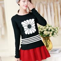 FS-2704 Autumn Winter 2014 Flower Women Cardigan Sweaters Long Sleeve Pullovers