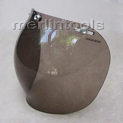 3 Snap Bubble Shield Smoke Black for HJC Shoei Z1R Open face half 3/4 Helmet(China (Mainland))