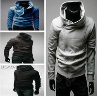 Hot,New winter men's plus size Oblique zipper hoodies sweatshirts men,C45