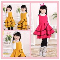 Flower Girl Dress Princess Winter For Weddings Baby Girl Dresses 3 Colors Quality Woolen Dresses Free Hat Free Shipping DA586