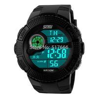 Hot sale Skmei Genuine New pattern Fashion Man's Diving watch Movement Digital watch Men & students sport watches 1027