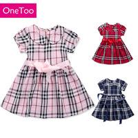 Girls' skirts small lattice British style of Scotland style Plaid skirt  England style