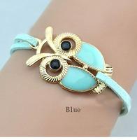 Leather Bracelets, Women Owl Bracelets, Fashion Leather Bracelets Jewelry ACB006