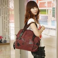 The new woman outdoor leisure canvas bag handbag shoulder bag canvas bag free shipping