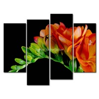 3 Piece Wall Art Painting Orange Freesia Picture Print On Canvas Flower 4 5 The Picture Decor Oil For Home Decoration Prints