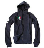 US Brand Mens Polo Hoodies 2014 Classic Italy Flag Solid Sports Sweatshirt Fashion Long Sleeve Casual Jacket Jogging Coats