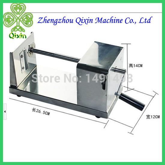 Free Shipping Manual Stainless steel potato tower slicing machine potato chips machine potato spiral cutting machine(China (Mainland))