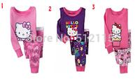 Drop Shipping ew 2015 Frozen baby pig cotton sleepwear boys Despicable Me pyjamas suits girls Kitty clothing sets kids pajama