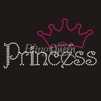 25PCS/LOT Custom Rhinestone Hot Fix Iron On Transfers Princess Design