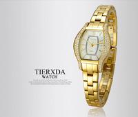 Korean fashion ladies fashion waterproof female form diamond bracelet. Diamond watches