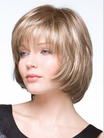 New sale!Free shipping!WHS Ladies fashion short Lace front wig volume fluffy short  women's wig