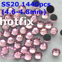 SS20 pink rhinestones SS20(4.6--4.8mm) 1440pcs/lot flat back free shipping