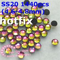 SS20 rainbow rhinestones SS20(4.6--4.8mm) 1440pcs/lot flat back free shipping