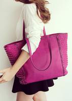 Vogue of new fund of 2015 woven bag under the single shoulder bag bump color restoring ancient ways female bag bag, shoulder bag