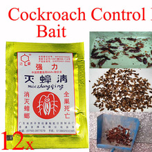 Wholesale 12 Bags Powerful Effective Cockroach Killer Bait Cockroach Control Bait Pest Control ideal for Kitchen Restaurant(China (Mainland))