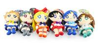 "6""15cm EMS 210pcs 1set=7pcs Cartoon Sailor Moon Mars Jupiter Venus Mercury Uranus Pluto Plush Toys Dolls With Tag Pendants"