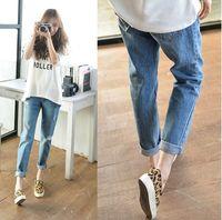 Fashion Women Trousers Causal Capris Pencil Pants Vintage Ripped Denim Jeans Rasgado Hip Hop Punk Wear T24-207