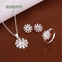 Free shipping S489 2014 bulk sale cheap bridal party 925 silver Jewelry sets