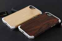 30pcs Brand Complex mix of metal and wood Cover for iphone,Bamboo and Wenge Wood Case for iphone 6 4.7 inch,with retail box