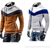 Fashion Men Casual Sweatshirt  Fleece Hoodie Patchwork Tracksuits Long Sleeve sudaderas hombre Pullover Man Sportwear CX852930