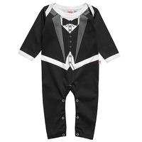 3pc/lot 75-95cm baby boys bodysuits boy clothing tie gentlemen kids clothes factory 661