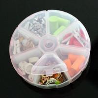 X187 creative activities gifts home daily round 7 grid transparent kit will / storage box storage box