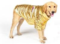 2014 New Large Dog Clothing Pet Winter Coat Big Dog Clothes Cotton Padded Jacket Gold Fashion King Snow Clothes Hoodis 1pcs/lot