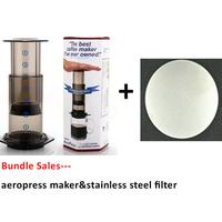 Bundle - 2items: AeroPress Coffee Espresso Maker & Stainless Steel Disc Coffee Filter