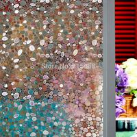 45cm*90cm decorative 3D cobblestones frosted pvc self adhesive static cling window film