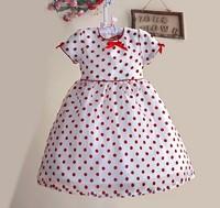 6pcs/lot, Girl dot Dress,  A-zef126