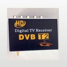 DVB-T2 Car Digital TV Tuner receiver 4 way av output for car DVD player LCD Monitor for Russia/Tailand/Colombia etc(China (Mainland))