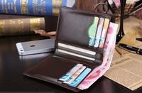 Men's wallet grid  Male vertical contrast color wallet   Men's plaid short wallet