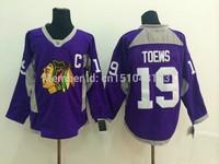 Best Chicago Blackhawks #19 Jonathan Toews Jersey purple winter classic ice Hockey Jerseys authentic stitchingCheap Mens