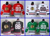 Wholesale Youth Chicago Blackhawks Hockey Jerseys Kids 88 Patrick Kane Jersey White Black Red Green Sports Cheap All Embroidery